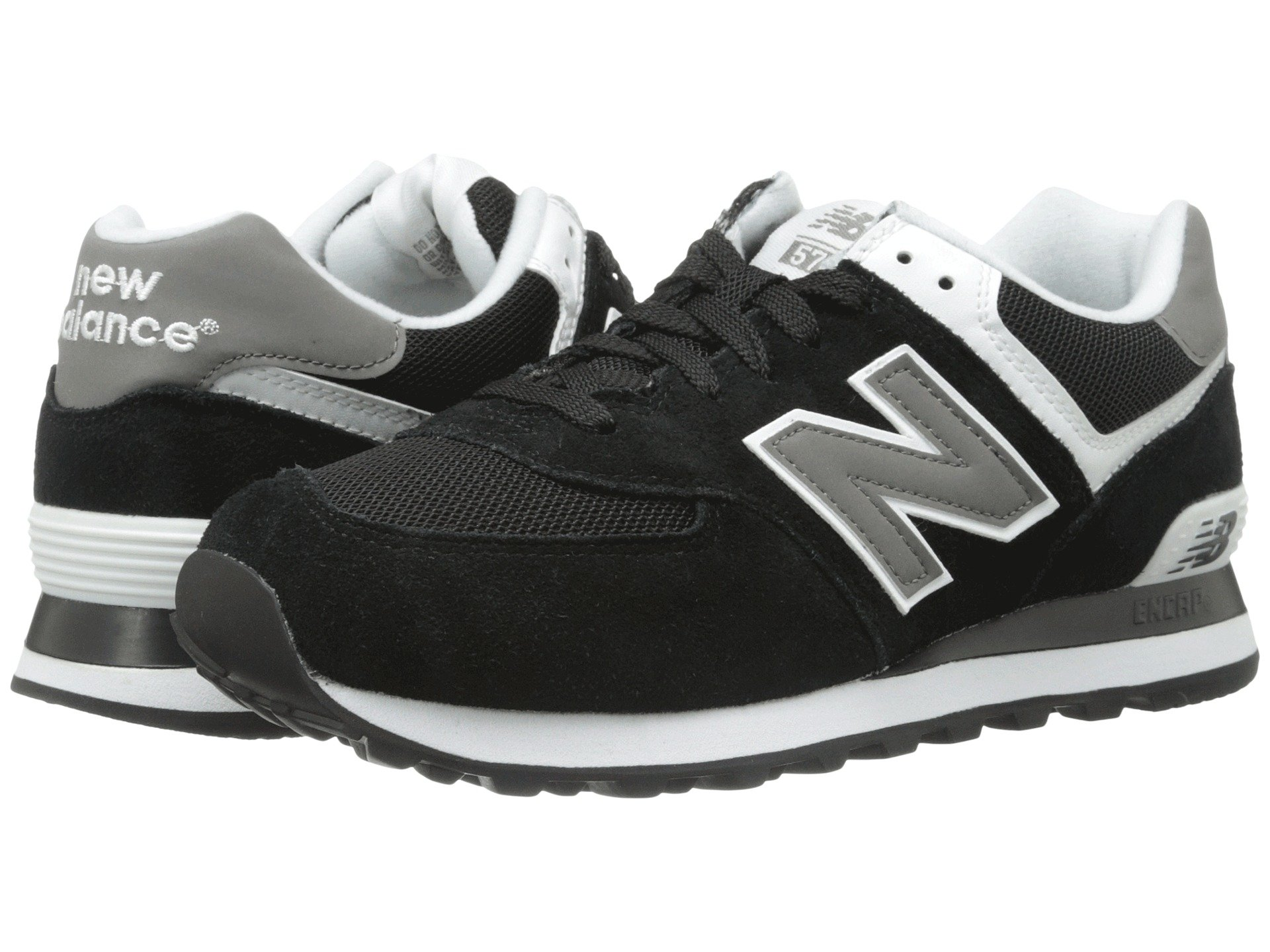 new balance m574 black grey