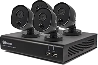 4 Camera 4 Channel 1080p Full HD DVR Security System 32GD SD Card, Heat & Motion Sensing + Night Vision