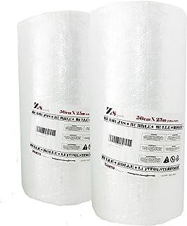 Zs Pack x 2 unidades de Rollos de plástico de burbujas. Pack (0,50m x 25m) x 2 unidades