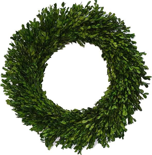 Flora Decor Preserved Garden Boxwood Wreath 22
