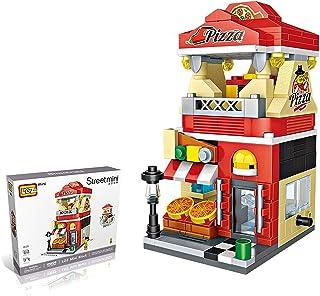 LOZ StreetMini Pizza Food Restaurant Architecture Blocks Building Plastic Assembly Toys for Children (1628)