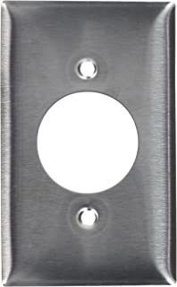 Hubbell Wiring Systems SS720 Ship-to-Shore Stainless Steel Wall Plate for HBL26CM10 Weather Proofing Receptacle