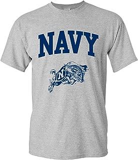 Medium Dark Heather Elite Fan Navy Midshipmen Mens Long Sleeve Arch Tee Shirt