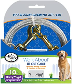 Four Paws Silver Heavy Weight Dog Tie Out Cable