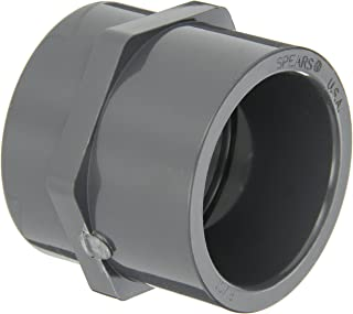 GF Piping Systems PVC Pipe Fitting, Adapter, Schedule 80, Gray, 2