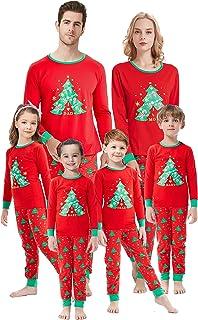 KKSH Family Matching Christmas Pyjamas Set Cotton Lounge Sleepwear Long Sleeve Christmas Elk Print Pajamas For Women,Men,Kids 18M 18 months