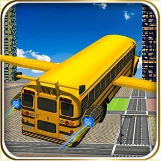 Flying School Bus Racing