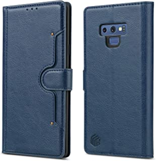 WenBelle for Galaxy Note 9 Wallet Case Synthetic Leather Wallet Case, with Credit Card Slots and Bill Pockets Flip Cases for Samsung Galaxy Note 9 (2018 Release) (Blue)