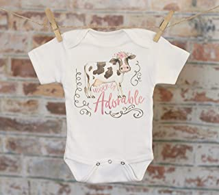 Udder-ly Adorable Cow Onesie®, Woodland Animal Onesie, Cute Cow, Cute Baby Bodysuit, Cute Onesie, Boho Baby Onesie, Funny Onesie