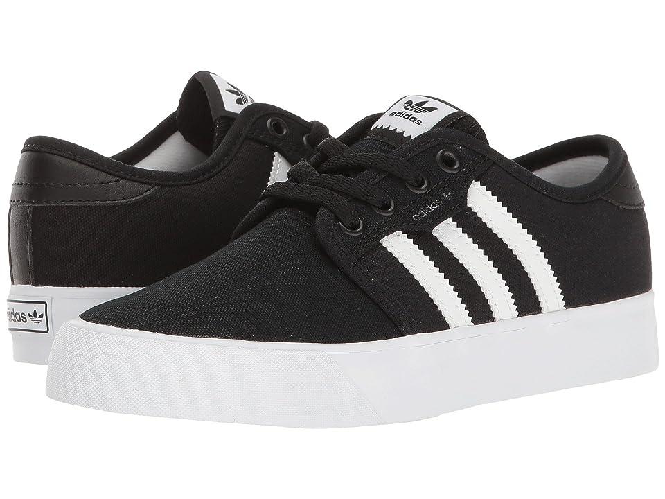 adidas Skateboarding Seeley J (Little Kid/Big Kid) (Black/White/Black 2) Skate Shoes