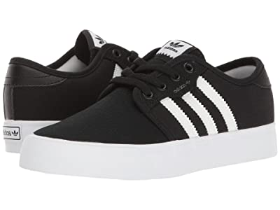 adidas Skateboarding Seeley J (Little Kid/Big Kid) (Black/White/Black 2) Skate Shoes