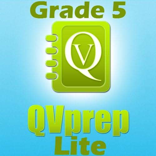 LIVRE QVprep Lite 5 ª série matemática (quantitativo) e Inglês (verbal) a capacidade prática testes de preparação para a 5 ª série quinto vocabulário matemática questionário padrão núcleo comum