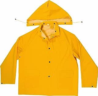 CLC Custom Leathercraft R114L Heavyweight PVC Rain Jacket with Detachable Hood, Large