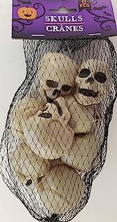 "Greenbrier هالووین مینی جمجمه انسانی پلاستیکی 1.5 ""Hx1.3"" Wx1.5 ""D 8/Pk"