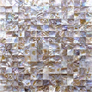 Art3d Peel and Stick Mother of Pearl Shell Tile for Kitchen Backsplashes, 12