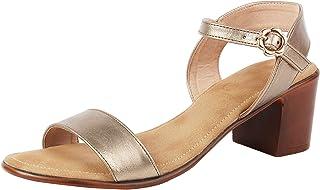 Catwalk Women's Metallic Ankle Strap Sandals
