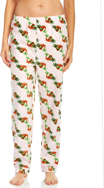 Leveret Fleece Womens Sleep Pants Dinosaur Medium