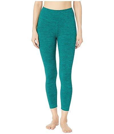manduka Essential Cropped Leggings (Heather Emerald) Women