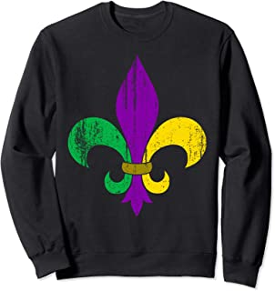 mardi gras block sweatshirt