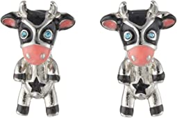 Betsey Johnson Cow Stud Earrings