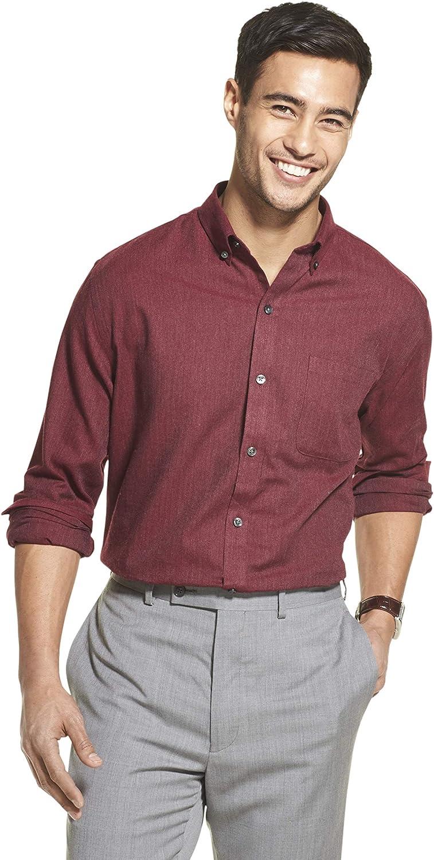 Van Heusen Men's Flex Long Sleeve Button Down Stretch Solid Shirt