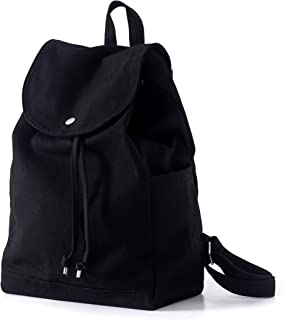BAGGU Canvas Backpack, Durable and Stylish Simple Canvas Satchel for Daily Essentials, Black (2018)