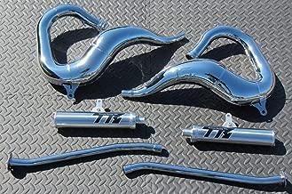 New Yamaha Banshee Chrome Toomey Racing T5 Pipes And T-5 Silencers 1987-2006