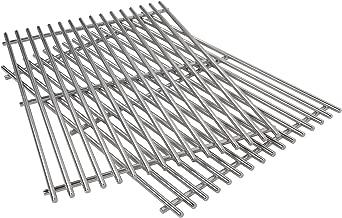 QuliMetal 7639, 304 Stainless Steel Cooking Grates (17.3 x 11.8 x 0.5) for Weber Spirit 300 Series, Spirit 700, Genesis Silver B & C, Genesis Gold B & C, Genesis Platinum B & C