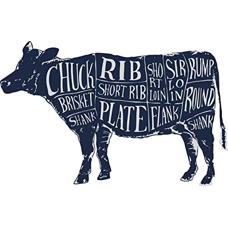 Amazon.com: Thorpe Signs Cuts of Meat Wall Art Diagram Wall Sticker Beef Cow  Butchers Decal Anatomy (Large: 90cm x 58cm): Home & KitchenAmazon.com