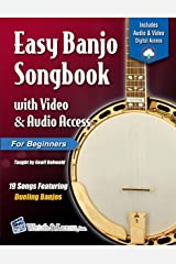 Easy Banjo Songbook For Beginners with Video & Audio Access Kindle Edition
