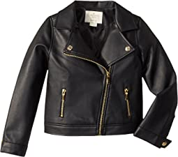 Faux Leather Moto Jacket (Toddler/Little Kids)