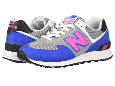 New Balance Classics ML574 Pebbled Sport (Vivid Cobalt/Peony) Men