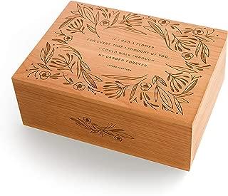 Garden of Flowers Laser Cut Wood Keepsake Box (Valentine's Day Gift/Wedding / 5th Anniversary/Love/Heirloom/Decorative/Handmade)