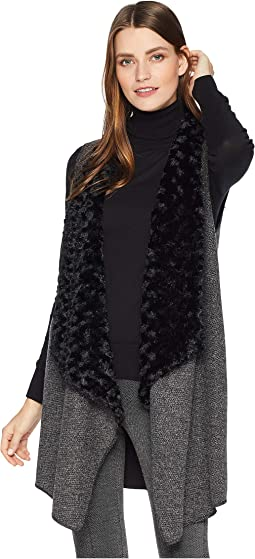 Reversible Vest with Faux Fur Collar