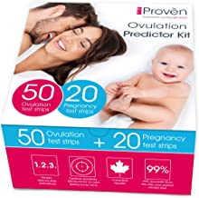 iProven Ovulation Predictor Kit - Ovulation Kit with 50 Ovulation Strips and 20 Pregnancy Tests - Early Pregnancy Detection - Easy Dip & Read Test Strips for Home Use - iProven FK-127A
