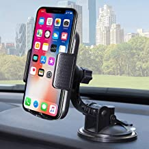 """Bestrix Universal Dashboard & Windshield Car Phone Dash Mount Holder Compatible with iPhone 6/6S/7/8/X Plus 5S/5C/5 Samsung Galaxy S5/S6/S7/S8/S9 Edge/Plus/Note and All Smartphones up to 6.5"""""""