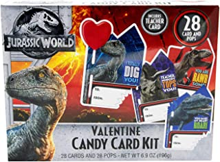 Frankford Valentine's Day Jurassic World Candy Card Kit - 28ct/6.9oz