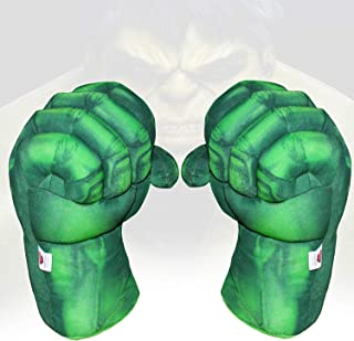1 Pair of Toy Hulk Gloves Very Light Big Soft Plush Gloves Hulk Hands Toys Smash Parent-Child Interactive Toy Accessories Hulk Hands Toys (Green)