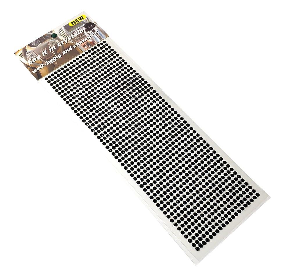 エイリアス木製絞るラインダイアモンドのデコレーションステッカー 1000粒 (ブラック)