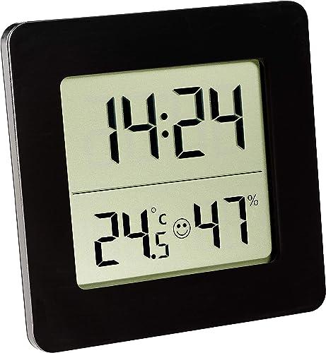 TFA 30.5038.01 - Termo-Higrómetro Digital, Color Negro