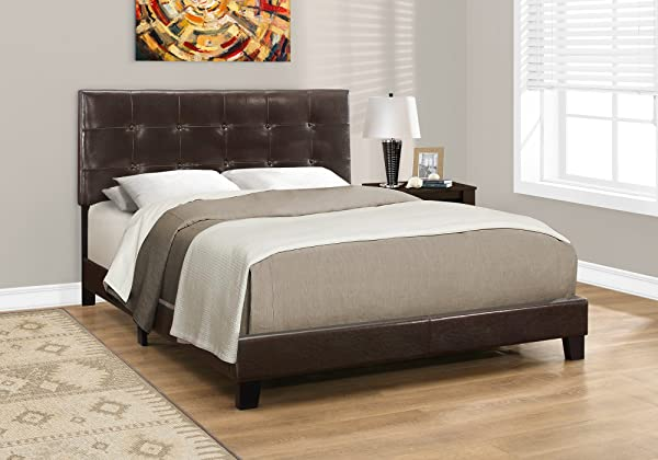 Monarch Specialties I 5922Q Bed Frames Queen Brown