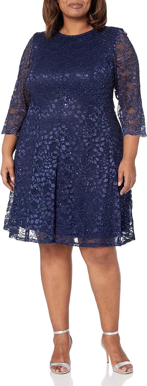 Jessica Howard Women's Fit and Flare Dress (Regular, Petite & Plus)