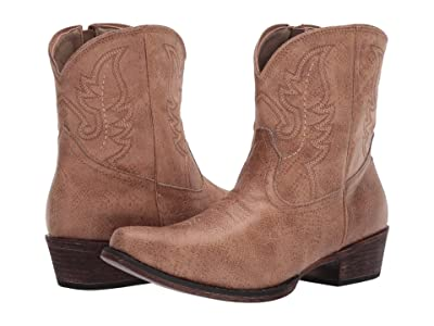 Roper Shay (Tan Faux Leather) Cowboy Boots