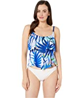 Palm Party Tiered Tankini Top