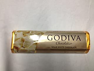 Godiva Chocolatier / Chocolate Solid White Bars 1.5oz Each (Pack of 8)