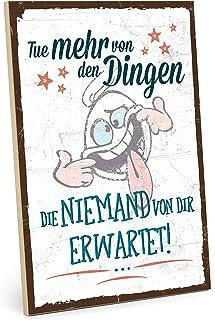 TypeStoff Placa de madera con frase en inglés «Sei Anders», estilo vintage con cita para regalo y decoración de temática d...