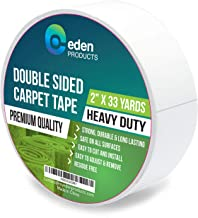 EdenProducts Double Sided Carpet Tape (2 Inch x 33 Yards) for Area Rugs, Mats and Carpets - Bonus Length, Heavy Duty, Industrial Strength, Non-Skid, Wood Safe & Residue Free - Indoors & Outdoors