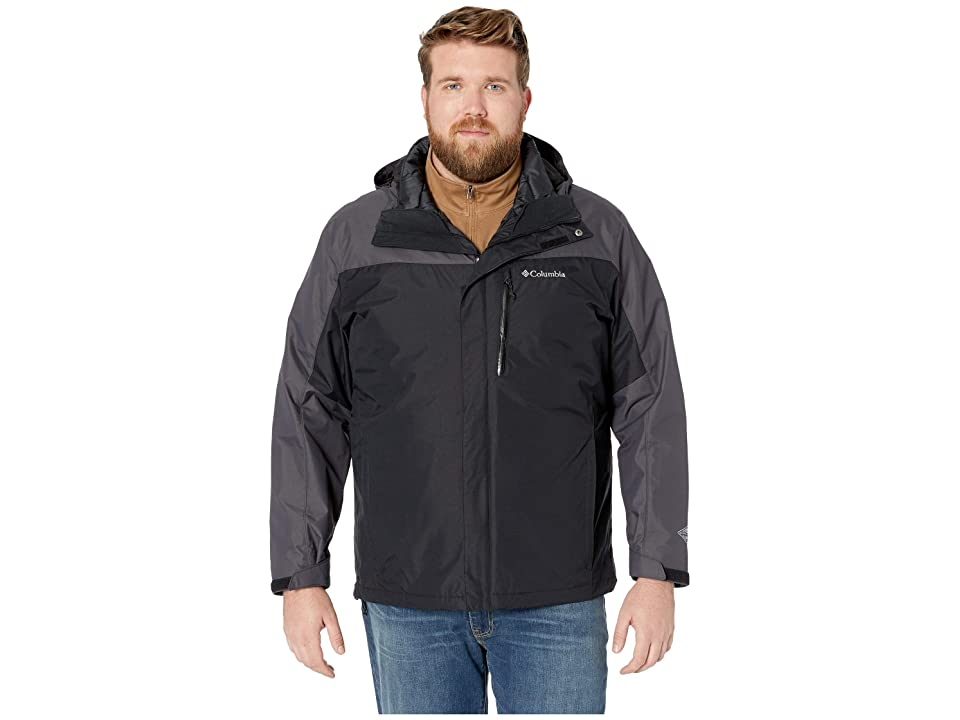 Columbia Big Tall Whirlibirdtm III Interchange Jacket (Black/Black) Men