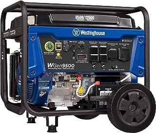 Westinghouse WGen9500 Heavy Duty Portable Generator – 9500 Rated Watts & 12500..