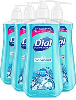Dial Antibacterial liquid hand soap, spring water, 11 ounce (Pack of 4), 4 Count